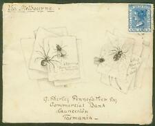 New South Wales 1890 front/hand drawn Spider & Fly