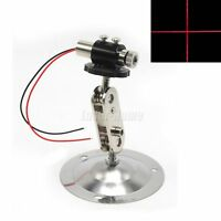Focusable 650nm 10mW Red Cross Laser Diode Module Driver in + 12mm Adjust Holder