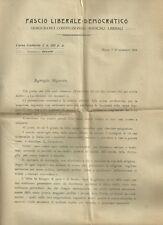 Fascio Liberale Democratico Propaganda Elettorale di Alfredo Baccelli 1919