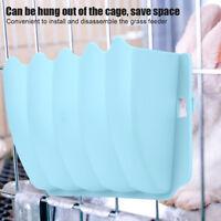Small Pet Rabbits Guinea Pig Rack Feeder Hay Grass Nesting Holder Bowl Dish