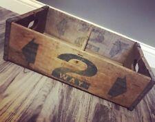 Super Rare Vintage 1960 2 Way Beverages Wood Soda Pop Crate Dayton Ohio