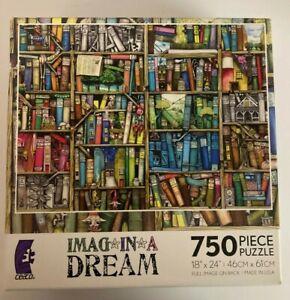 "Ceaco Puzzle Imagina Dream Books Colorful 750 Pieces 24""x18"" New & Sealed"