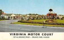 Orland Park Illinois Virginia Motor Court Street View Vintage Postcard K41249