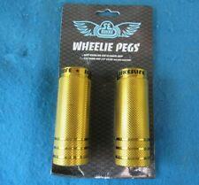 "SE Bikes Wheelie Axle Pegs  35 x 98 3/8""-14mm Gold - New"