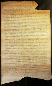 1284 MEDIEVAL PARCHMENT - STATES OF SAVOY TESTAMENT OFFICIAL ACT