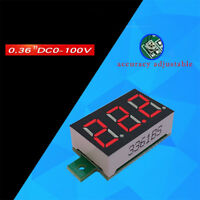 RD 0.36 inch LED Digital Voltmeter 0-100v Meter without Wire Voltage Meter Tools