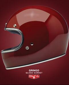 Biltwell Gringo Helmet in Gloss Garnet ECE & DOT Size XS