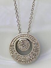 Circle 0.30 tcw Diamond Pendant Necklace in 14k White Gold Brand New