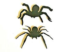 Black Spiders- pack of 2 ,2 designs,Halloween,parties,table decoration,wall deco