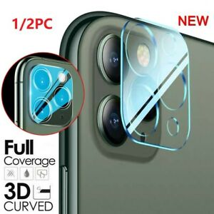 1/2pc Tempered Glass Camera Lens Screen Protector For iPhone 12 mini 11 Pro Max