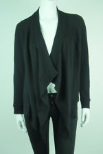 EUC$250 *LORD & TAYLOR* Black 100% CASHMERE Open Front CARDIGAN SWEATER XS 0 2