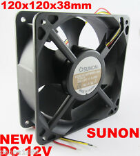 Sunon 120mmx38mm 12038 KDE1212PMB3-6A DC 12V Double Ball Bearing 3pin Case Fan