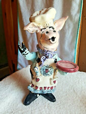 The Love Chef Pig Figure By Heather Goldminc 2000-Blue Sky Clayworks,Ca.