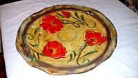 """GORGEOUS AMBIANCE FIELDS OF PROVENCE 11"""" POPPIES DINNER PLATE"""