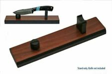 KNIFE DISPLAY STAND Wood Grain Finish for 6