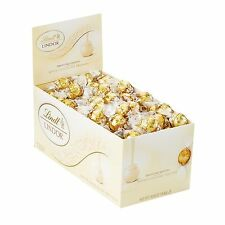 Lindt LINDOR White Chocolate Truffles 60 Count Box - Individually Wrapped Candy