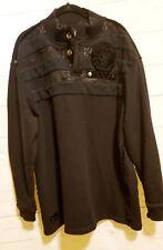 Coogi Black Sweatshirt Size XXXL Pullover Velvet Embellishment Long Sleeve