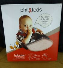 Phil & Teds Lobster Clip-On Portable High Chair In Black Brand w/Carry Bag New