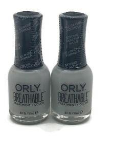 (2) ORLY BREATHABLE NAIL TREATMENT + COLOR ~ #20906 POWER PACKED ~ SEALED