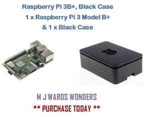 Raspberry Pi 3B+, Black Case - 1 x Raspberry Pi 3 Model B+  & 1 x Black Case