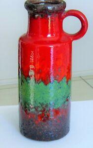 Retro Red Lava Vase