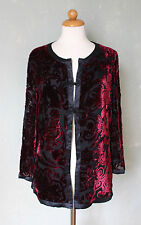 Laura Ashley Abendjacke Cardigan Asia Style schick schwarz rot bordeaux 38 M *