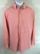 Ben Hogan Casual Button Dress Shirt Sz L EUC - Checkered Pink White