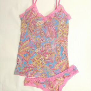 Victoria's Secret Mesh Cami Top, Thong Panty Set, VTG NWT