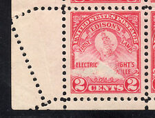 US # 655 (1929) 2c- MNG -EFO: Fold Over/Crazy Perforation. Real Neat!