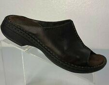 Merrell Women's Tetra Diva Dark Brown Leather Open Toe Slides Sandals Size US 8