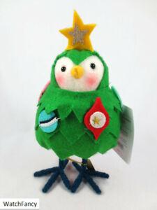 RARE 2020 Christmas Tree YULE Fabric Holiday Bird Figurine Wondershop Target