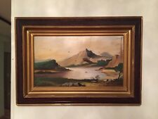 Antique Macau 19 Centuries Oil On Wood Chinese Framed,17.5:10 And 24.5:17 inches
