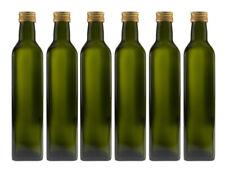 20 x 500 ml leere Glasflaschen Eckig Maraska Likörflaschen 500 ml Grün Gold