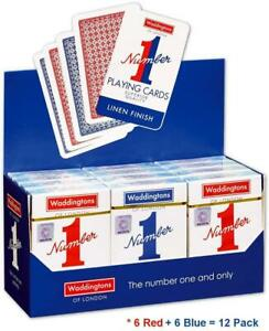 Waddingtons No.1 Playing Cards Choose Your Color And Quantity