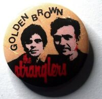 THE STRANGLERS Golden Brown Old OG Vtg 1980`s Button Pin Badge Punk 25mm