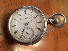 1891 Elgin 18 size B.W. Raymond Railroad Pocket Watch Silver Waltham Case