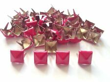 50 pcs Hot Pink Pyramid Stud spot spike for leather craft size 8 mm