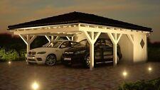 NEU Premium Carport 6.00 x 7.80 mit Geräteraum 33% Onlinerabatt Carport ab Werk