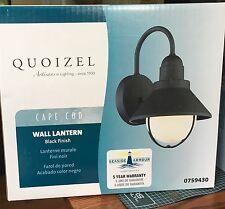 "Quoizel Cape Cod 12"" X 8 X 9  H Black Outdoor Wall Light  759430"