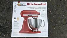 KitchenAid Artisan Series 5 Quart Tilt-Head Stand Mixer - Empire Red - BRAND NEW
