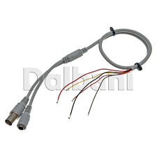 BNC Video Female DC Connector Cable 5 Wire for Security Camera Grey