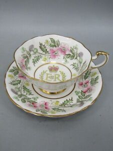 Paragon Tea Cup and Saucer / Coronation of Queen Elizabeth II (made in England)
