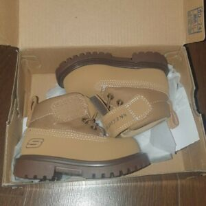 Skechers Tan Toddler Boots UK Size 4 Brand New With Box