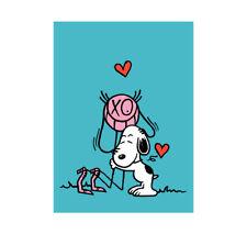 "André Saraiva ""Mr. A Loves Snoopy (Blue)"" Peanuts Limited SilkScreen Print, 2018"