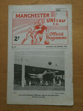 Manchester United Res v Newcastle Res  1963/64 - Central League