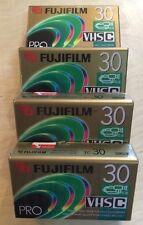 Lot Of 4 Fuji Film Pro TC-30 VHS-C Camcorder Videotape Tapes  (C1)