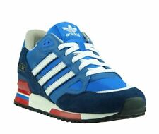 Adidas Unisex ZX750 Sports Gym Running Trainers in Blue and Navy