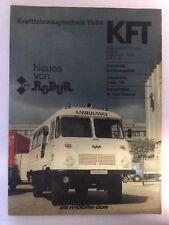 Kraftfahrzeugtechnik KFT 11/1984 Robur LKW Ostalgie Alt Selten Ost DDR Geschenk