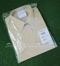 Camicie classiche da uomo polsini con bottone beige lavabile in lavatrice