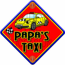 NEW Red & Yellow   IMPACT PAPA'S TAXI   Novelty Baby on Board Car Window Sign